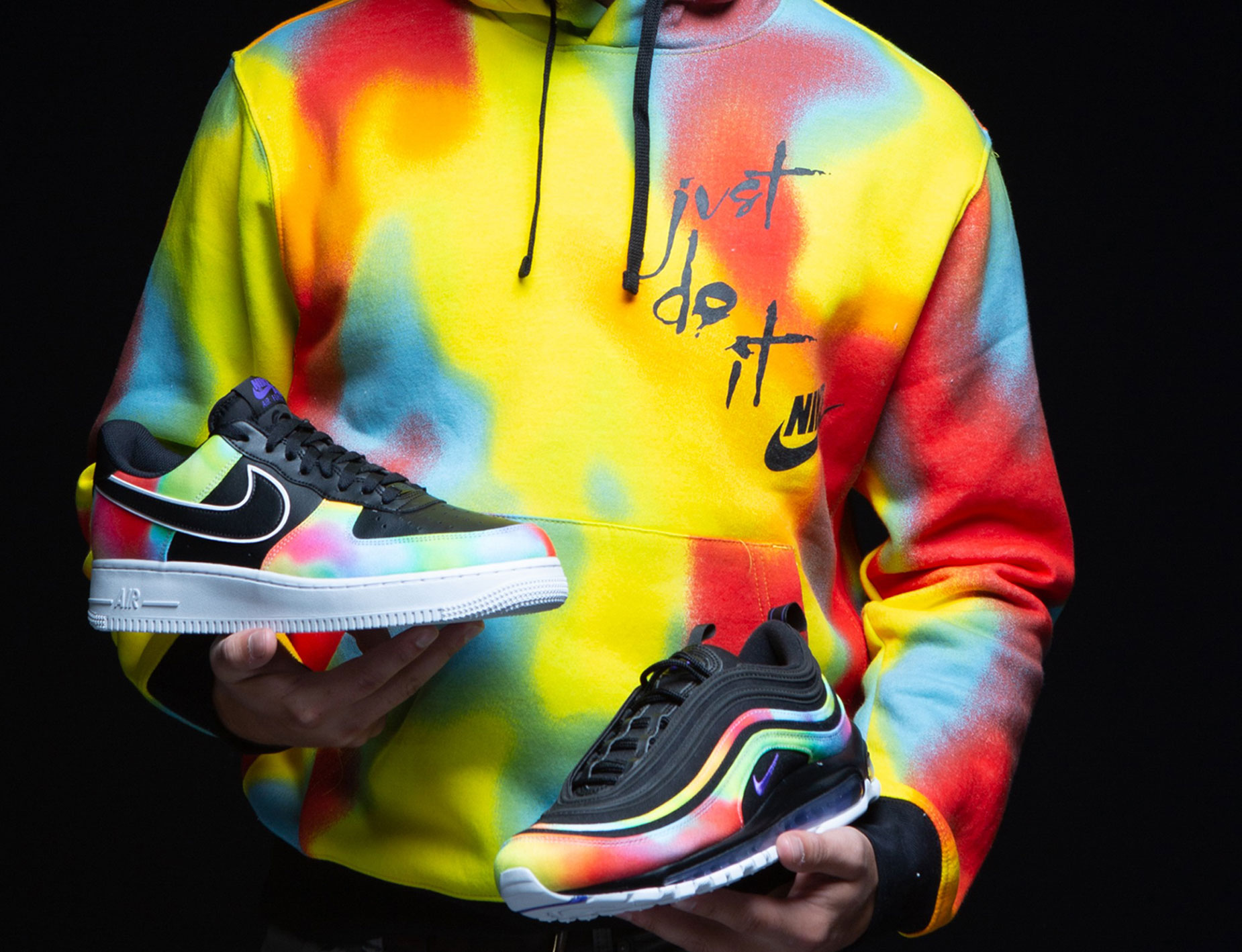 good watch multiple colors Nike Chi Dye Hoodie and Tie Dye Sneakers | SneakerFits.com