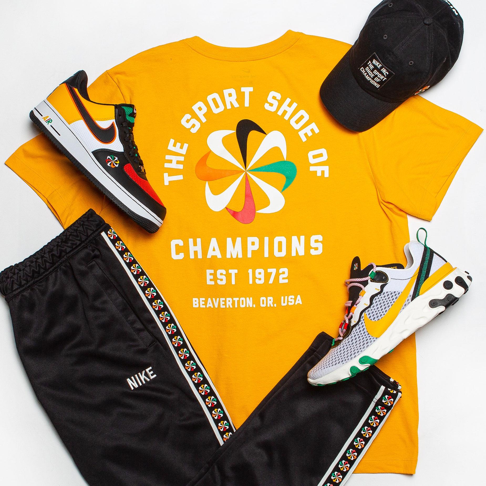 Nike Sunburst Evolution of the Swoosh Sneaker Outfits
