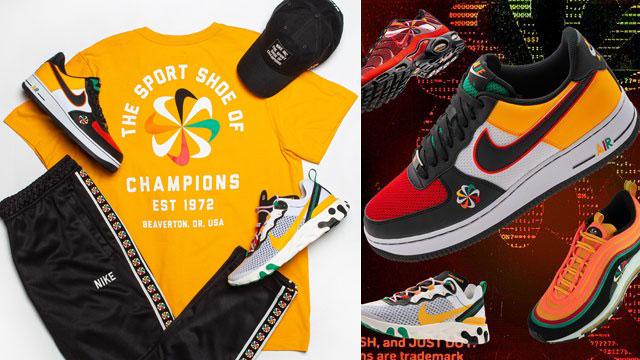 Nike Sunburst Evolution Of The Swoosh Sneaker Outfits Sneakerfits Com