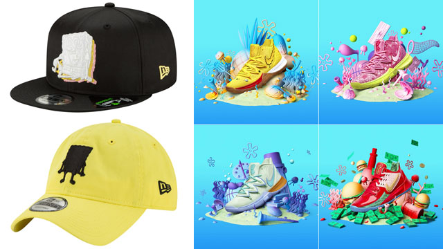 spongebob-nike-kyrie-sneakers-hats-match