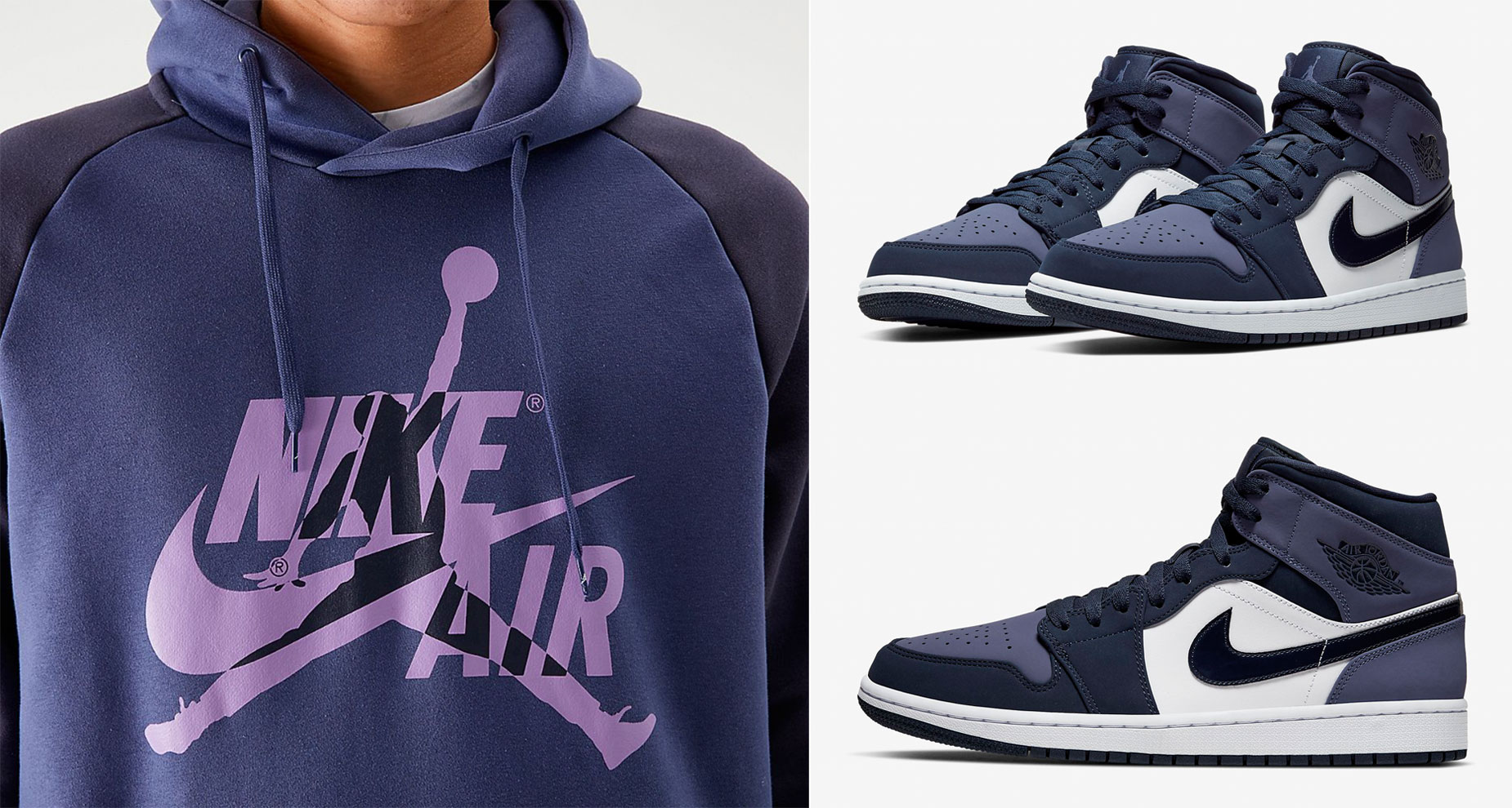 Air Jordan 1 Mid Sanded Purple Shirt Hat And Hoodie Match