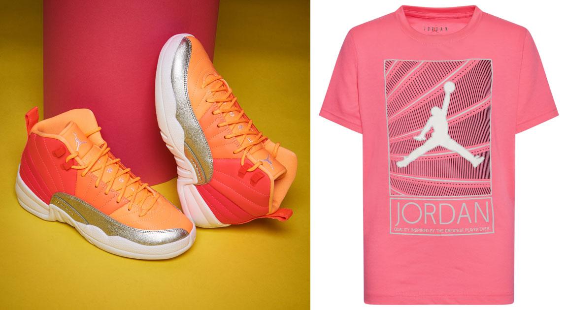 air-jordan-12-hot-punch-pink-sunrise-shirt