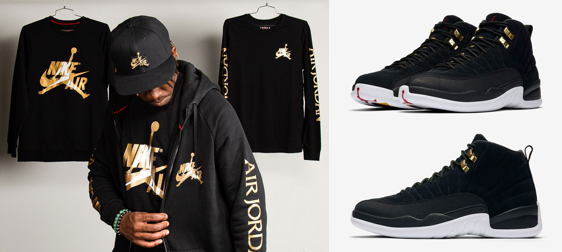 air-jordan-12-reverse-taxi-clothing-match