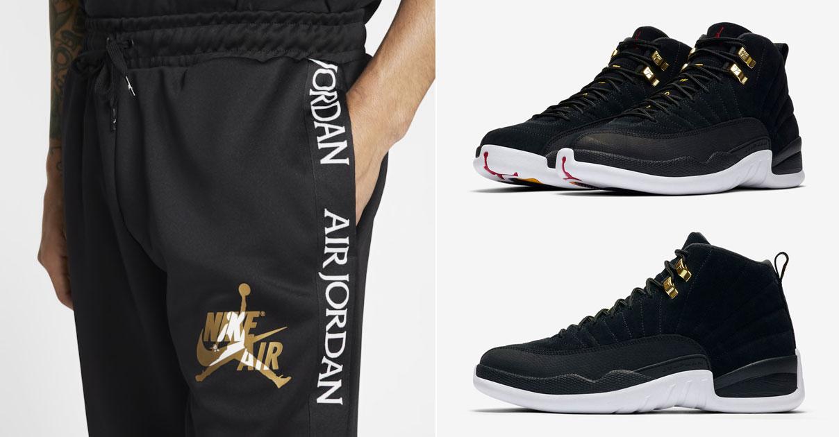 Air Jordan 12 Reverse Taxi Pants to