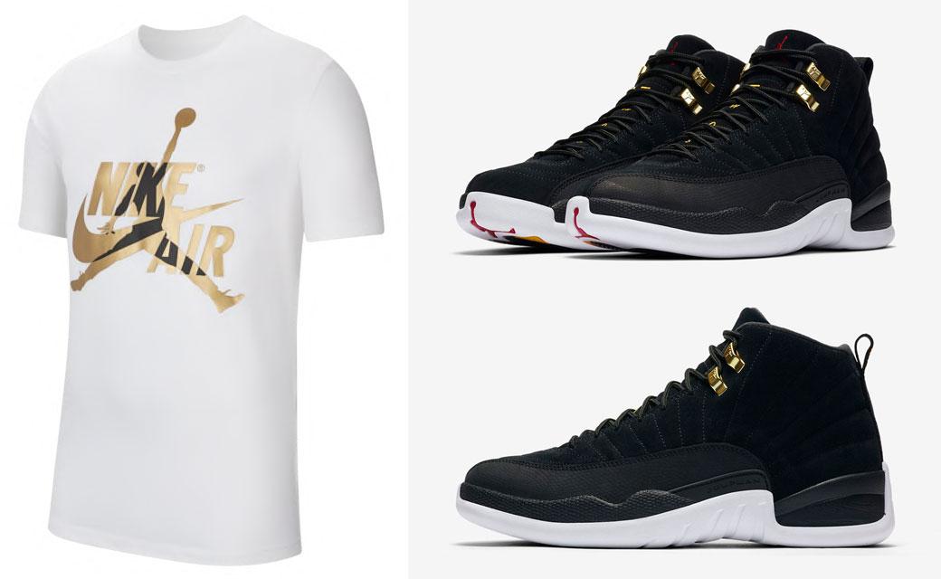 Air Jordan 12 Reverse Taxi Matching Shirts Sneakerfits Com