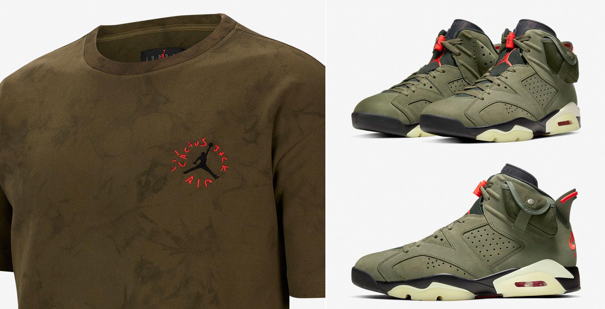 air-jordan-6-travis-scott-olive-shirt