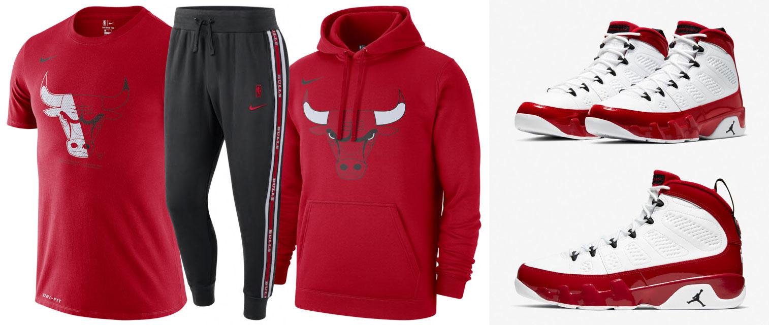 air-jordan-9-gym-red-chicago-bulls-clothing-match