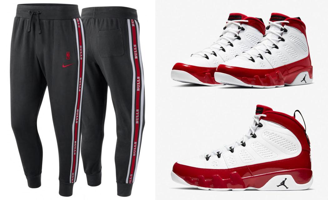air-jordan-9-gym-red-chicago-bulls-pants-match