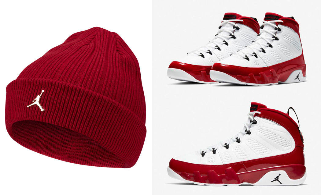 air-jordan-9-gym-red-knit-hat-beanie-match