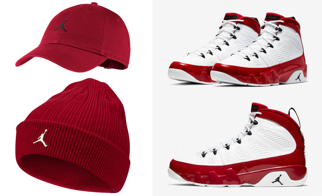 air-jordan-9-gym-red-matching-hats