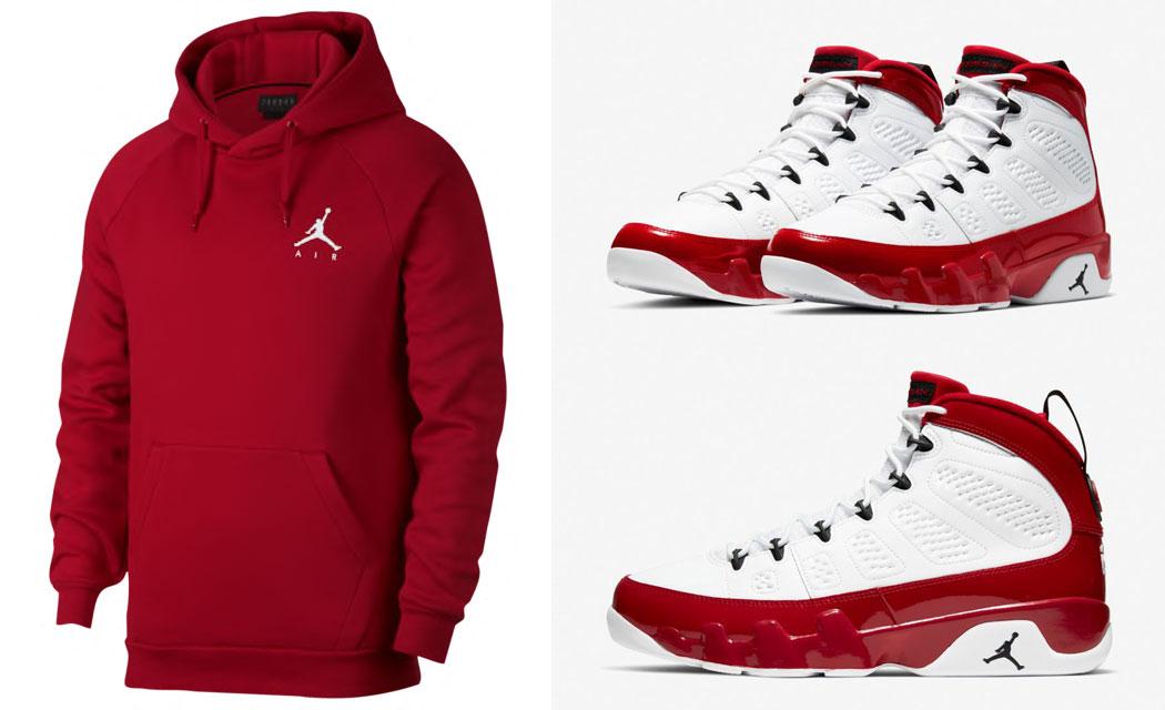 air-jordan-9-white-gym-red-hoodie-match-1
