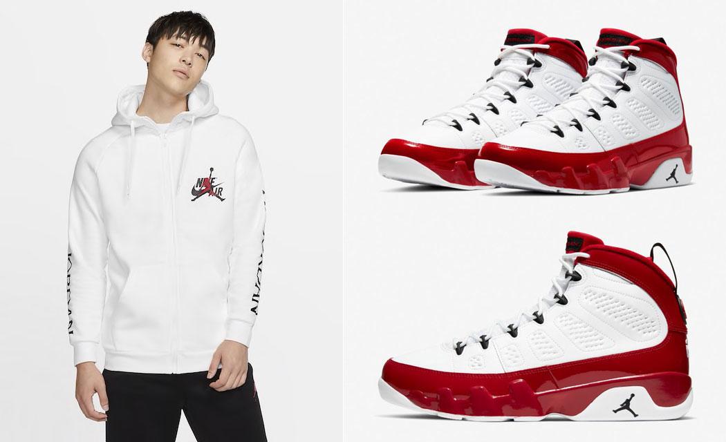 air-jordan-9-white-gym-red-hoodie-match-3
