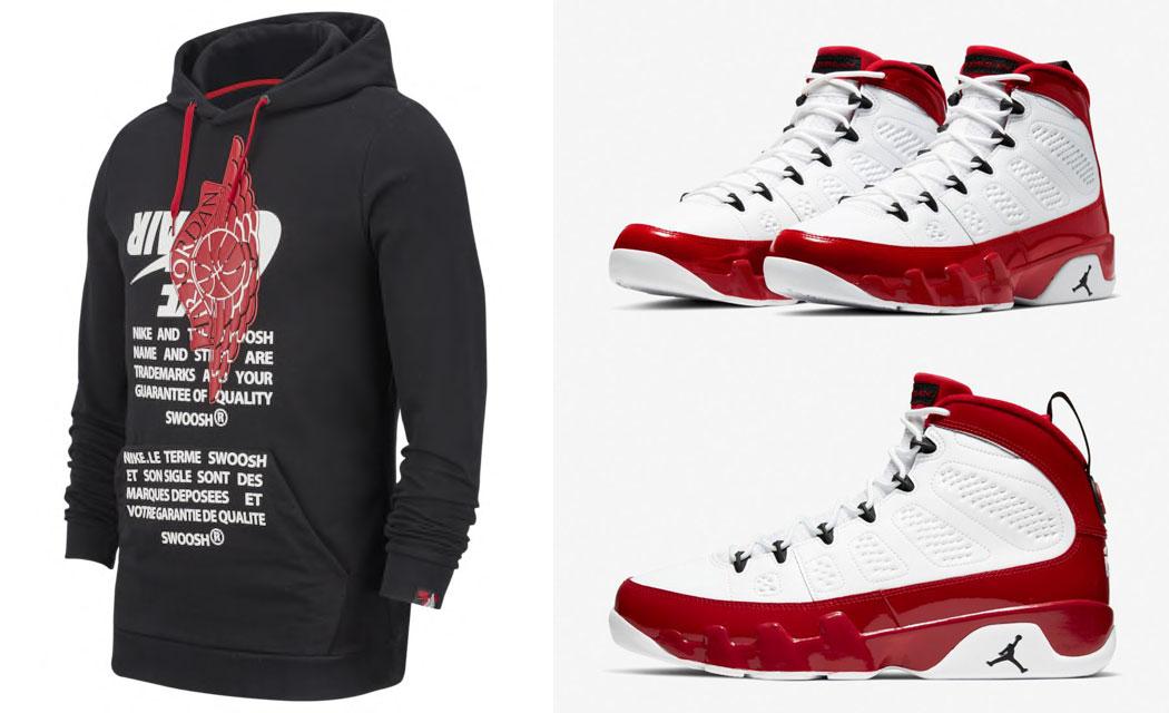 air-jordan-9-white-gym-red-matching-hoodie