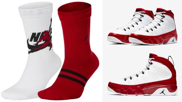 air-jordan-9-white-gym-red-matching-socks