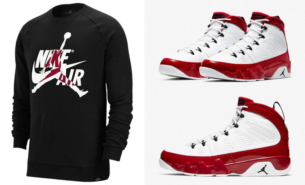 air-jordan-9-white-gym-red-matching-sweatshirt