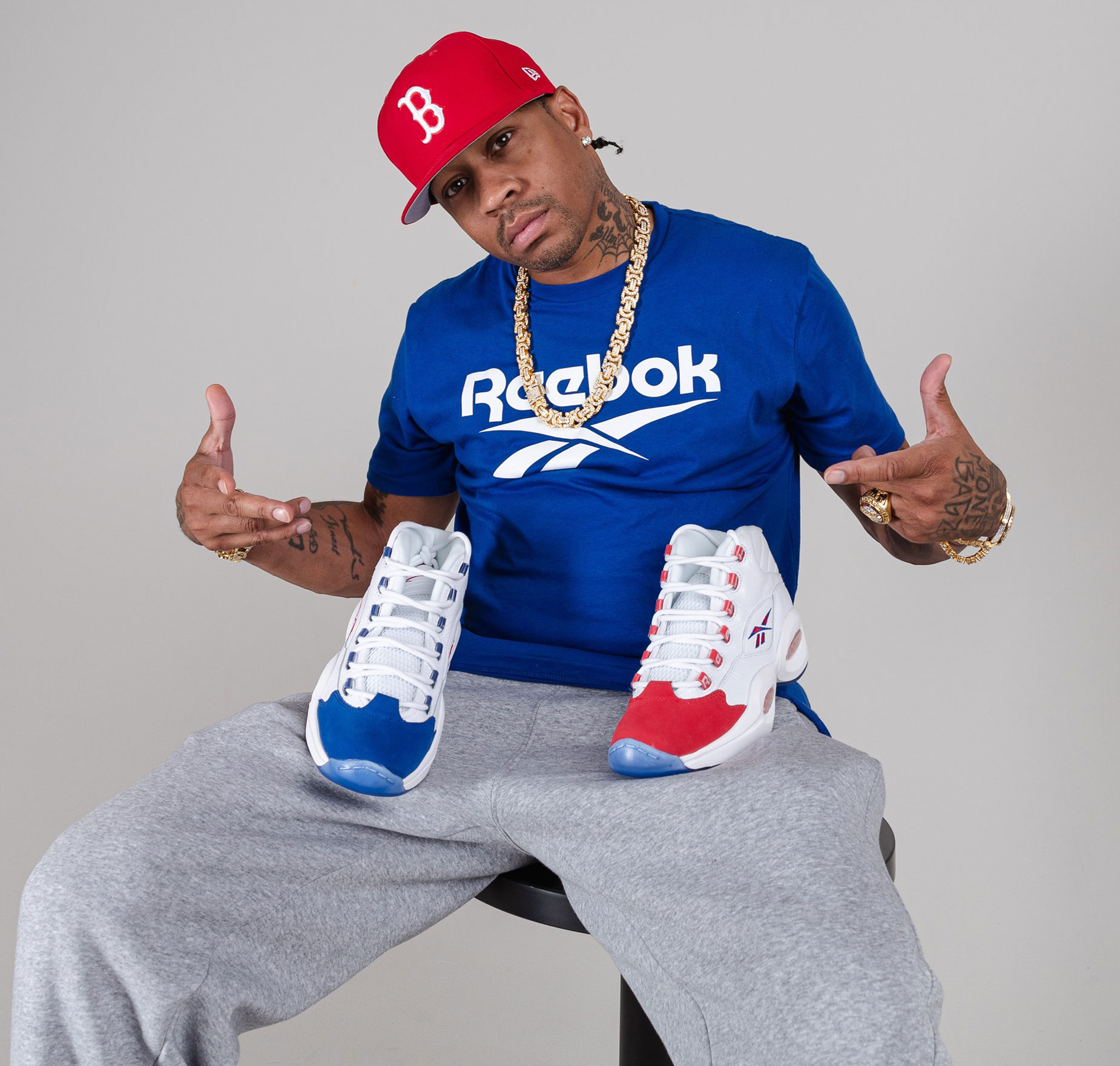 Desviación Mula limpiar  Allen Iverson Reebok Question Mid Double Cross Available Now |  SneakerFits.com