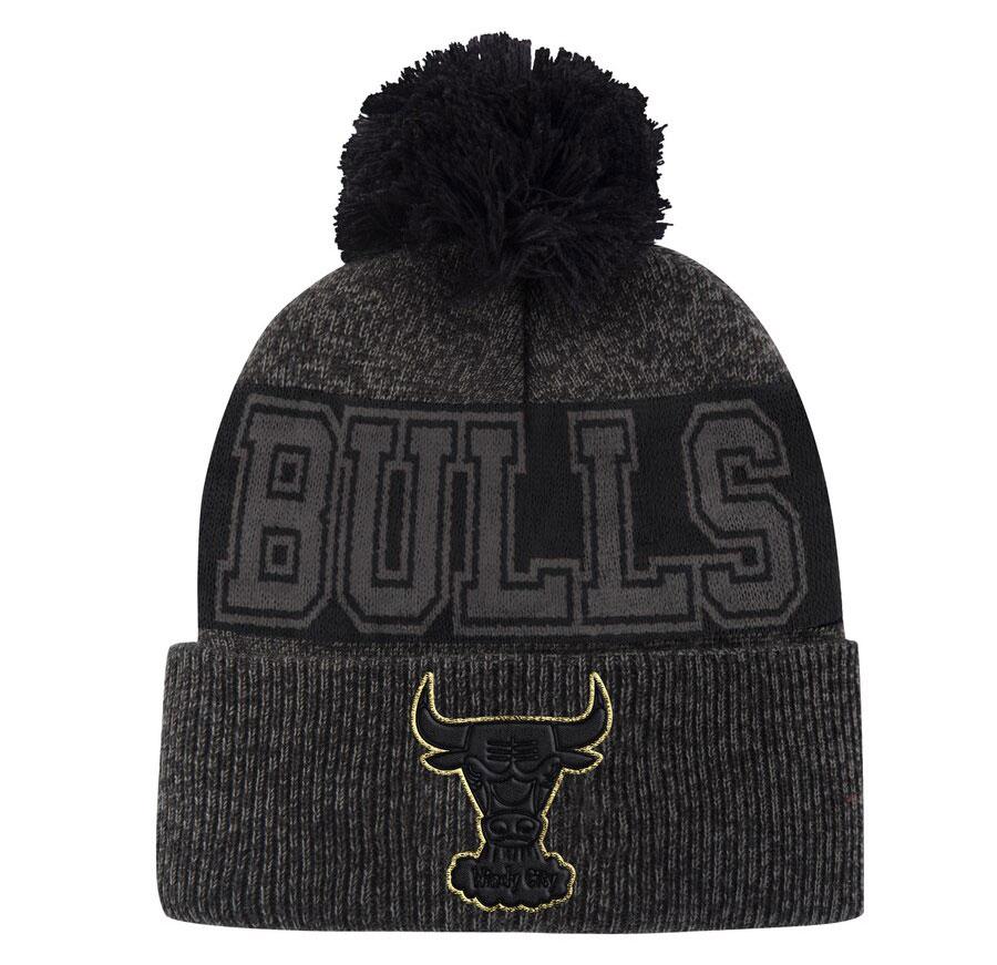 bulls-knit-hat-beanie-black-gold-1