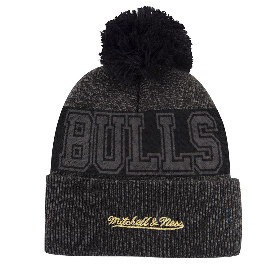 bulls-knit-hat-beanie-black-gold-2