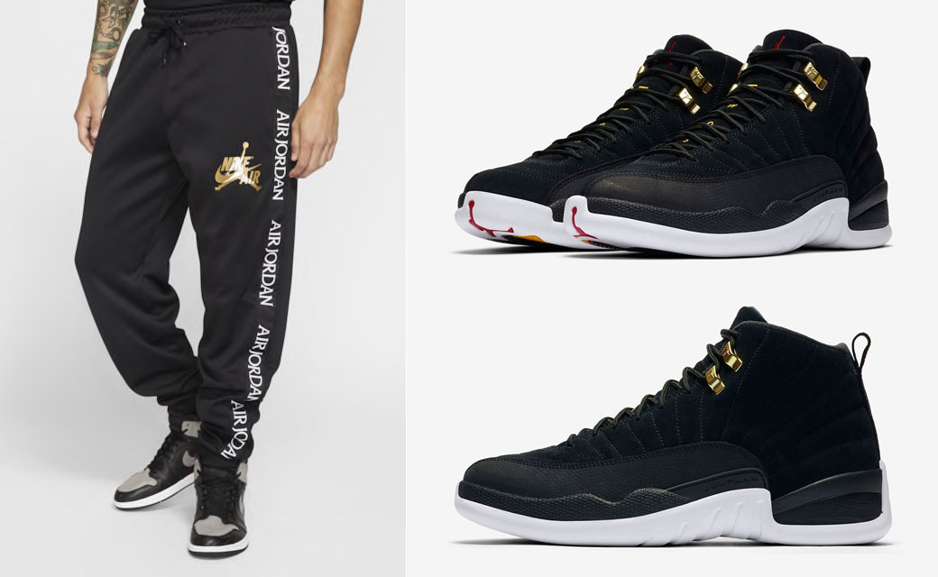 Air Jordan 12 Reverse Taxi Pants To Match Sneakerfits Com