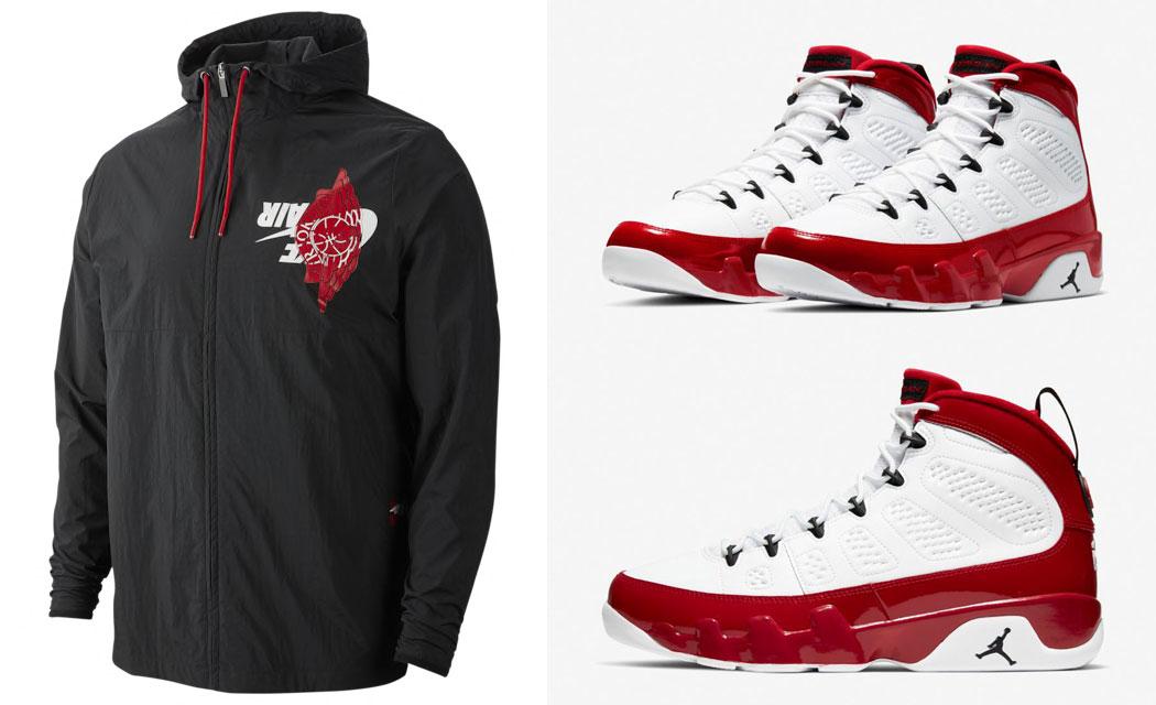 jordan-9-white-gym-red-matching-jacket