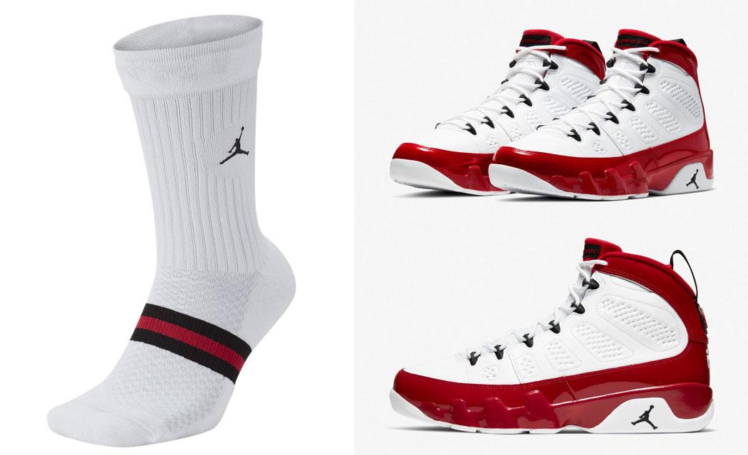jordan-9-white-gym-red-matching-socks