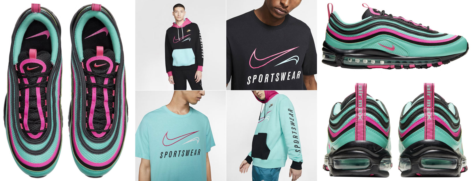 Nike Air Max 97 South Beach 2019 Turquoise Clothing Match