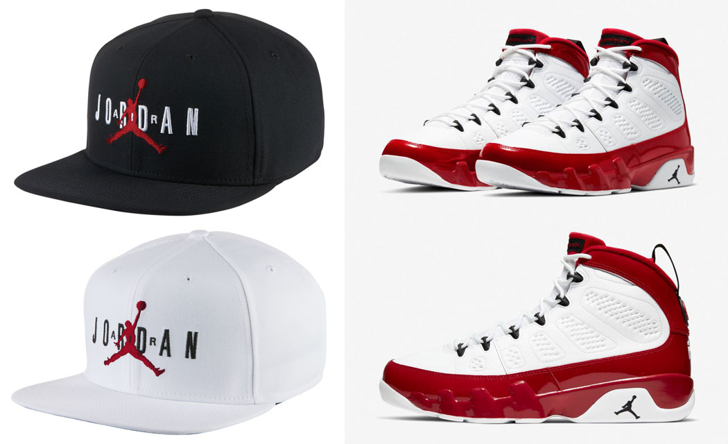 snapback-hats-to-match-jordan-9-gym-red