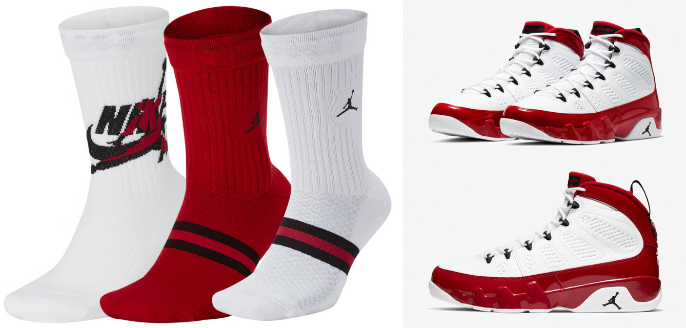 socks-to-match-air-jordan-9-white-gym-red