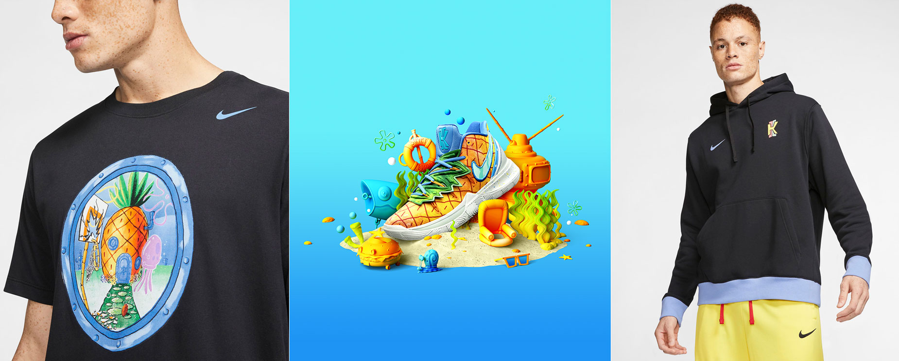 Preescolar Faringe Específicamente  Where to Buy the SpongeBob Nike Kyrie Pineapple Clothing and Shoes |  SneakerFits.com