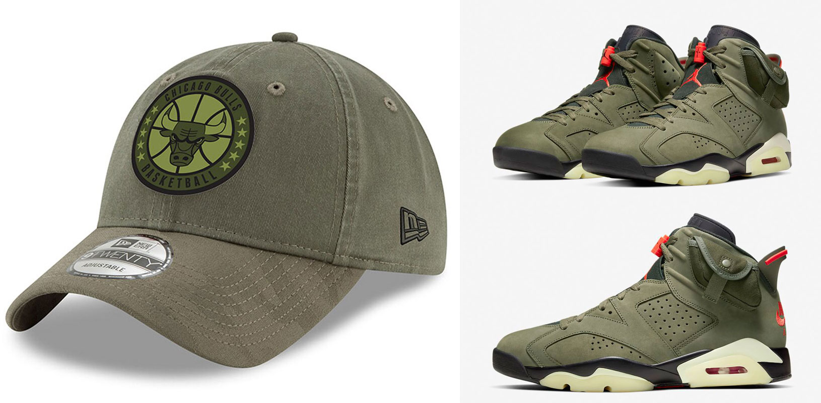 travis-scott-air-jordan-6-olive-bulls-hat-match-1