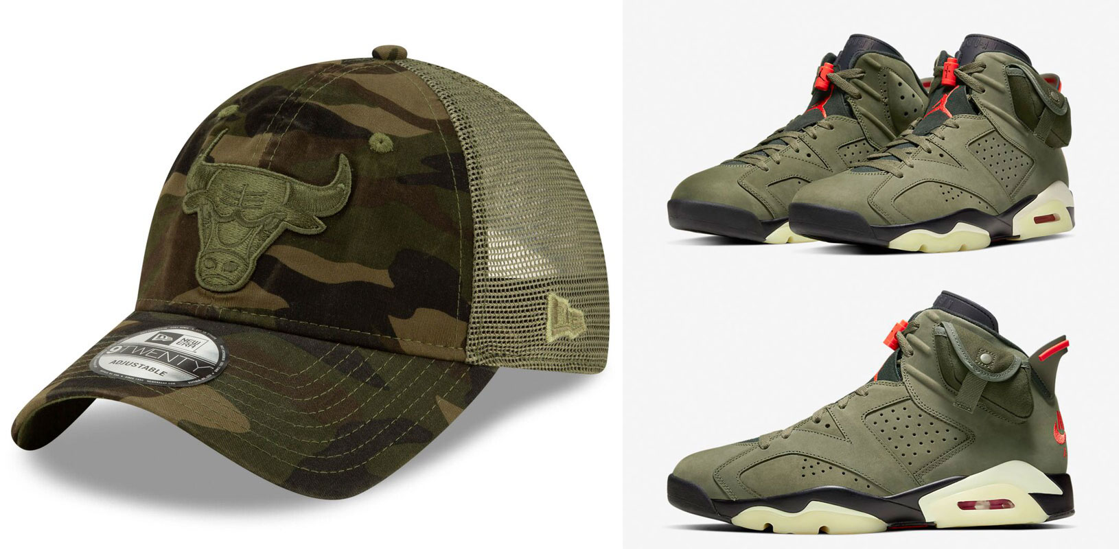 travis-scott-air-jordan-6-olive-bulls-hat-match-4