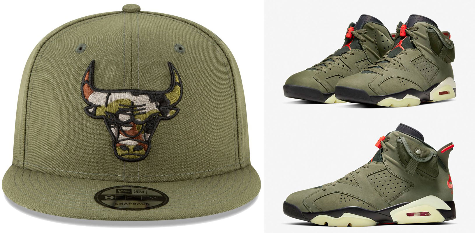 travis-scott-air-jordan-6-olive-bulls-matching-hat