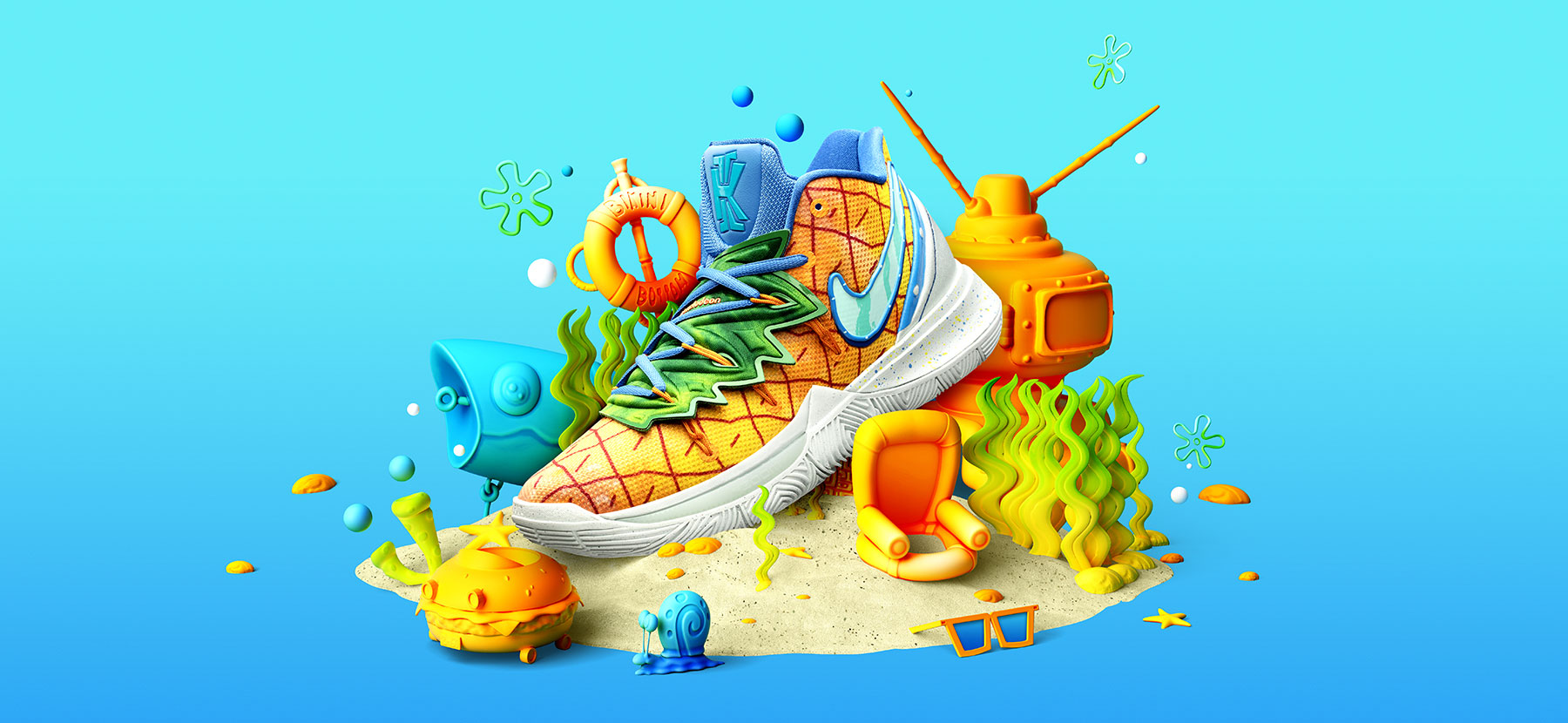 SpongeBob Nike Kyrie Pineapple Clothing