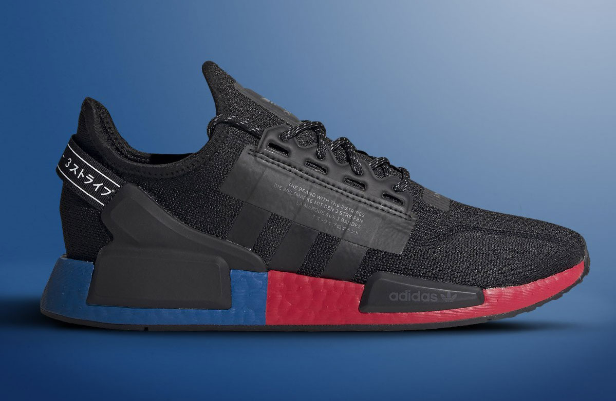 adidas NMD R1 V2 Black Royal and Red Available Now