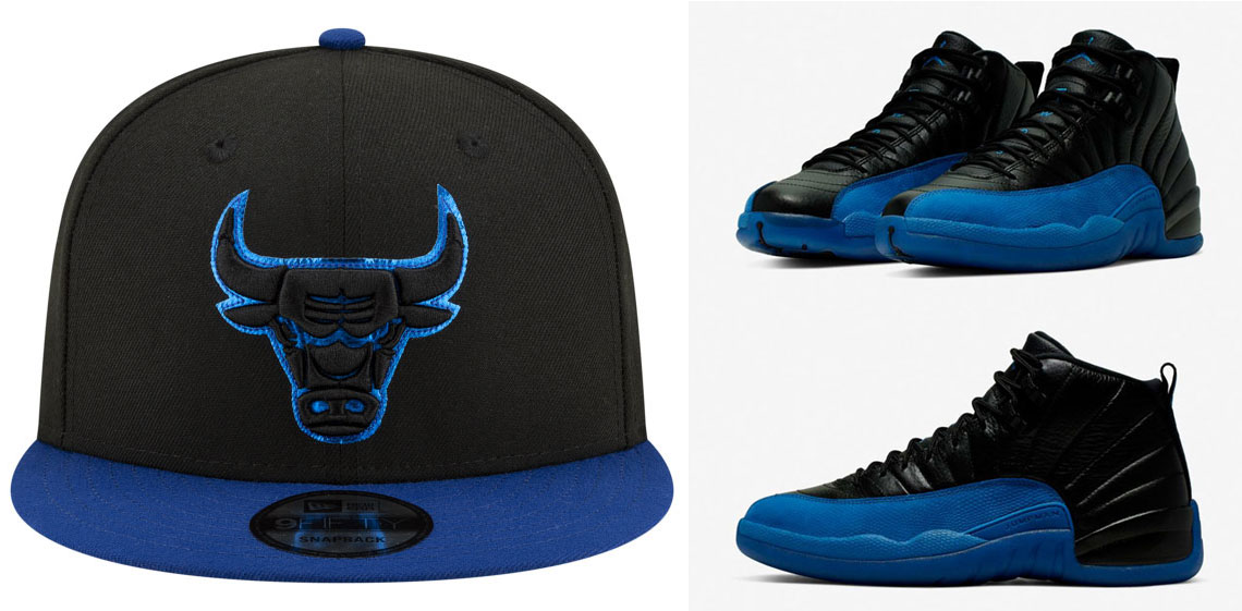 air-jordan-12-game-royal-new-era-bulls-snapback-hat