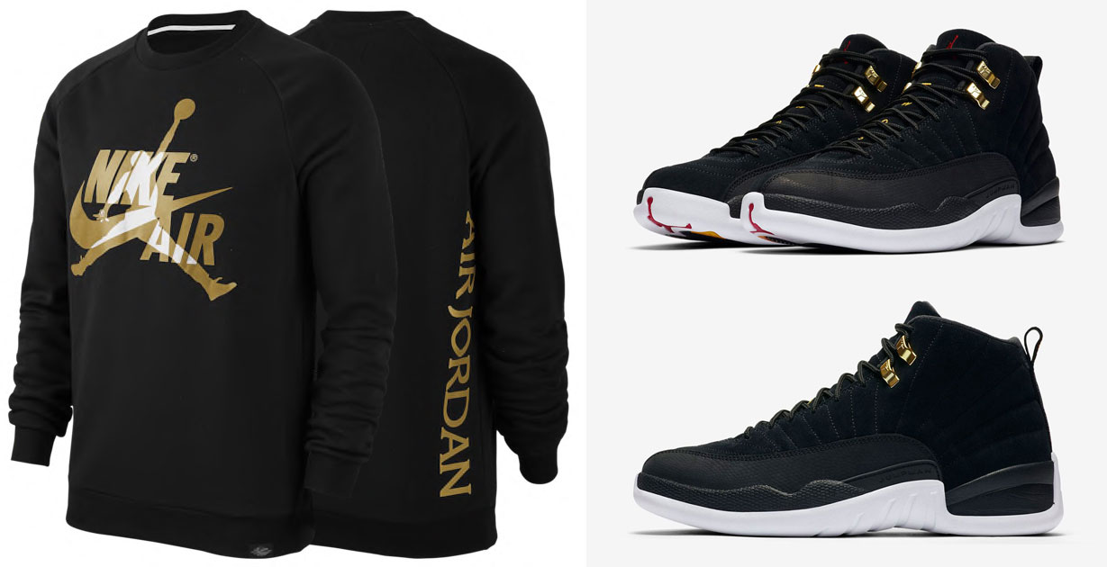 Air Jordan 12 Reverse Taxi Crew Sweatshirt to Match