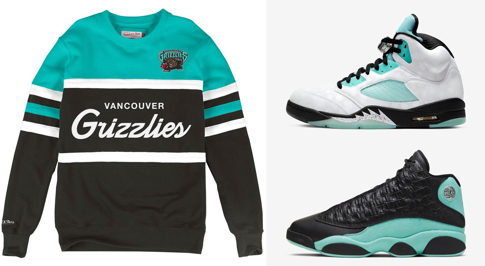 island-green-jordan-retro-nba-grizzlies-sweater-match