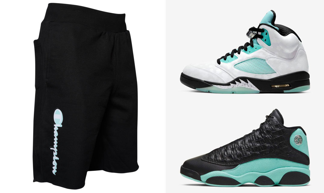 jordan-island-green-champion-shorts-match