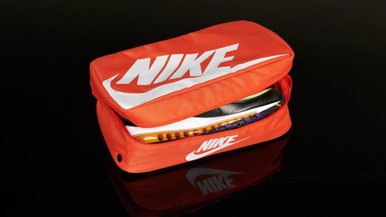 plato orientación corte largo  Nike Orange Shoe Box Bag | SneakerFits.com