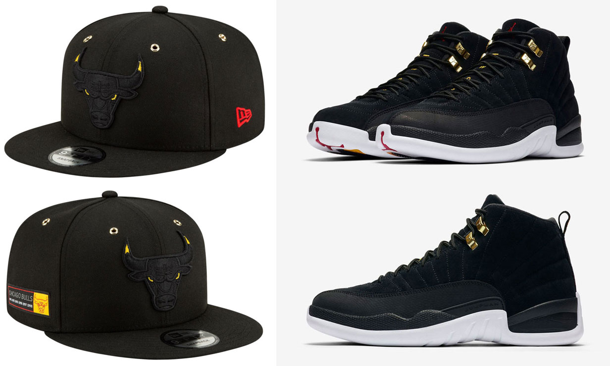 reverse-taxi-air-jordan-12-new-era-bulls-snapback-hat