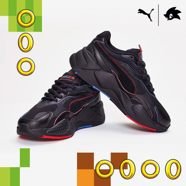PUMA Sonic Hedgehog RS X3 Shoes and Shirt | SneakerFits.com