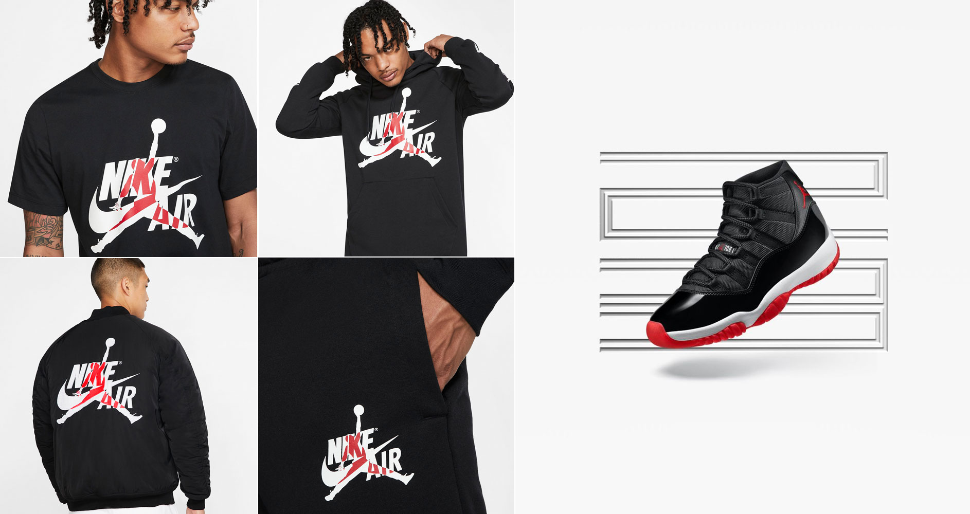 air-jordan-11-bred-black-red-matching-apparel