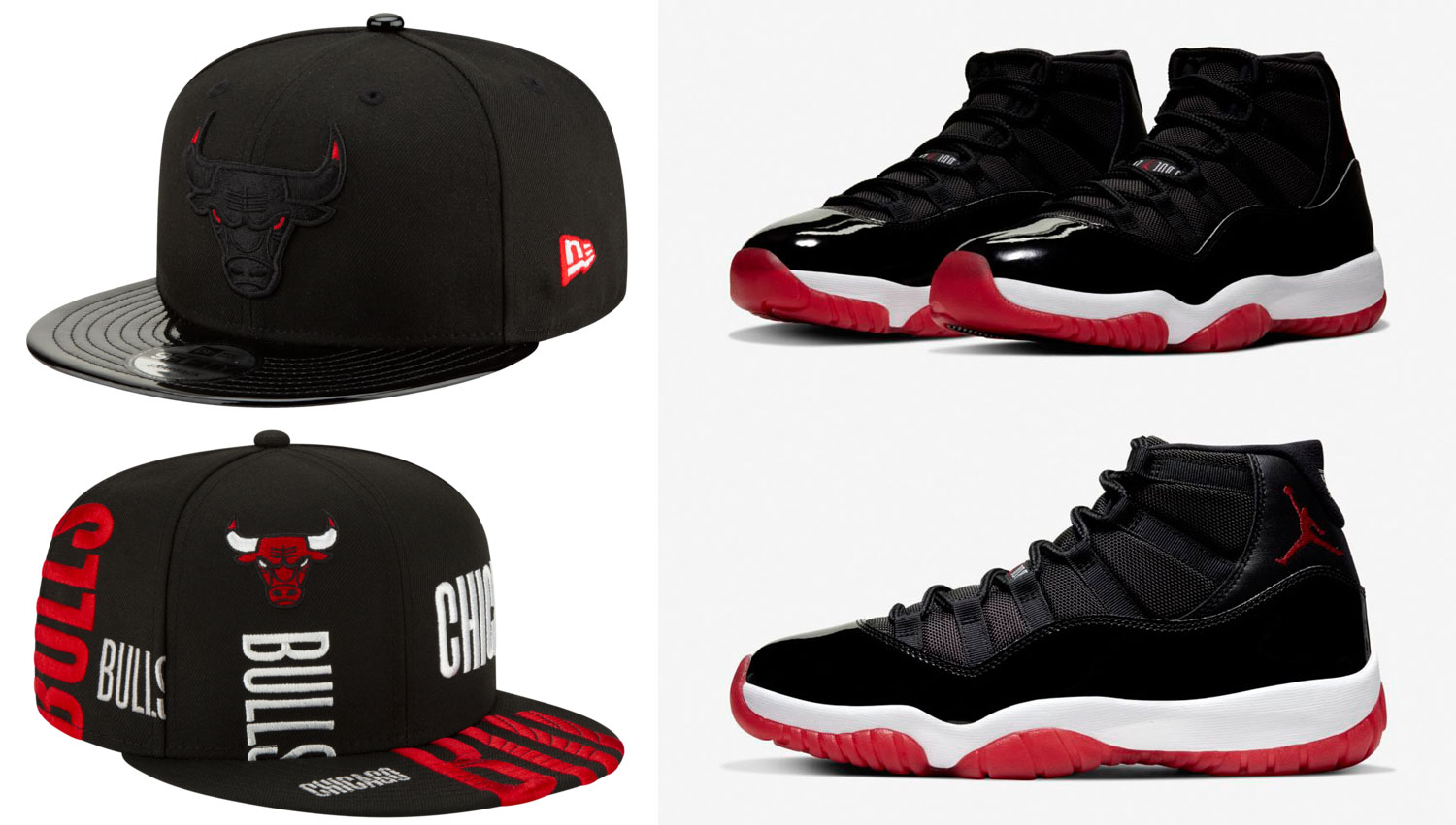 air-jordan-11-bred-new-era-bulls-snapback-hats