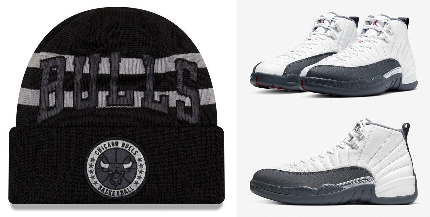 air-jordan-12-dark-grey-bulls-beanie-hat