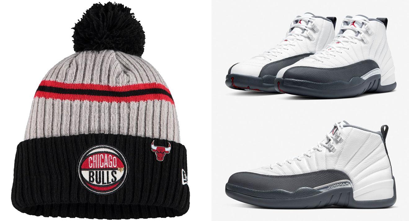 air-jordan-12-dark-grey-bulls-knit-hat-match