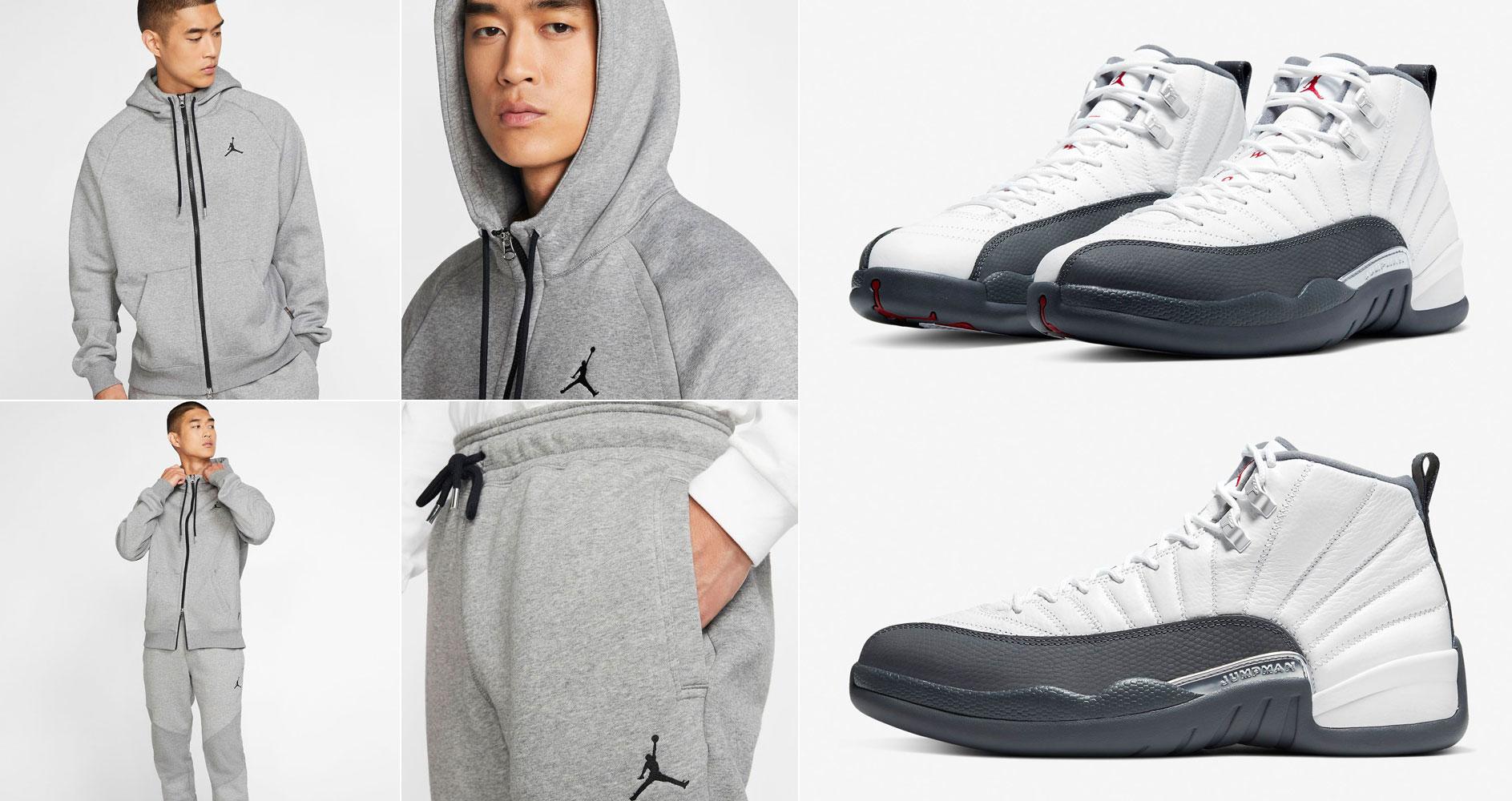 air-jordan-12-dark-grey-hoody-jogger-pant-match