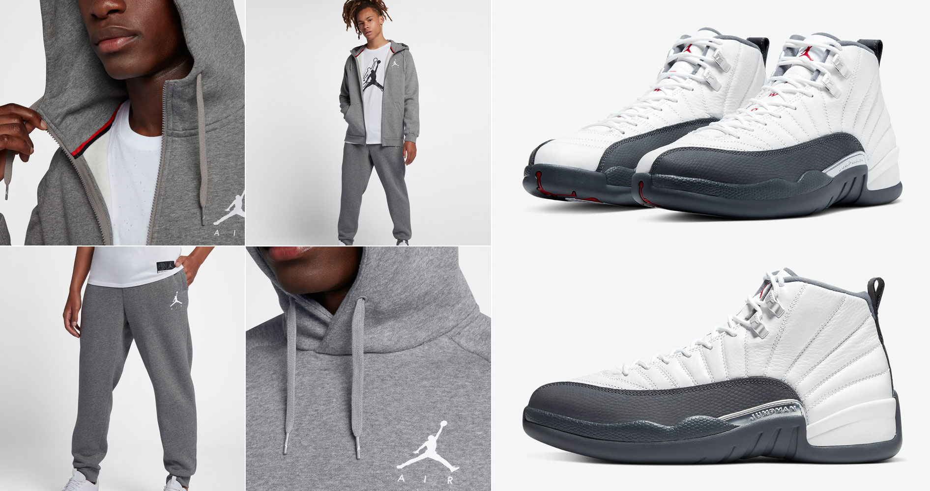 air-jordan-12-white-dark-grey-hoodies-jogger-pants-match