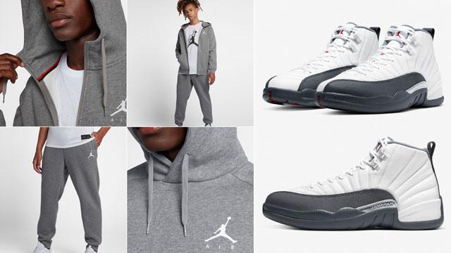 jordan 12 white gray