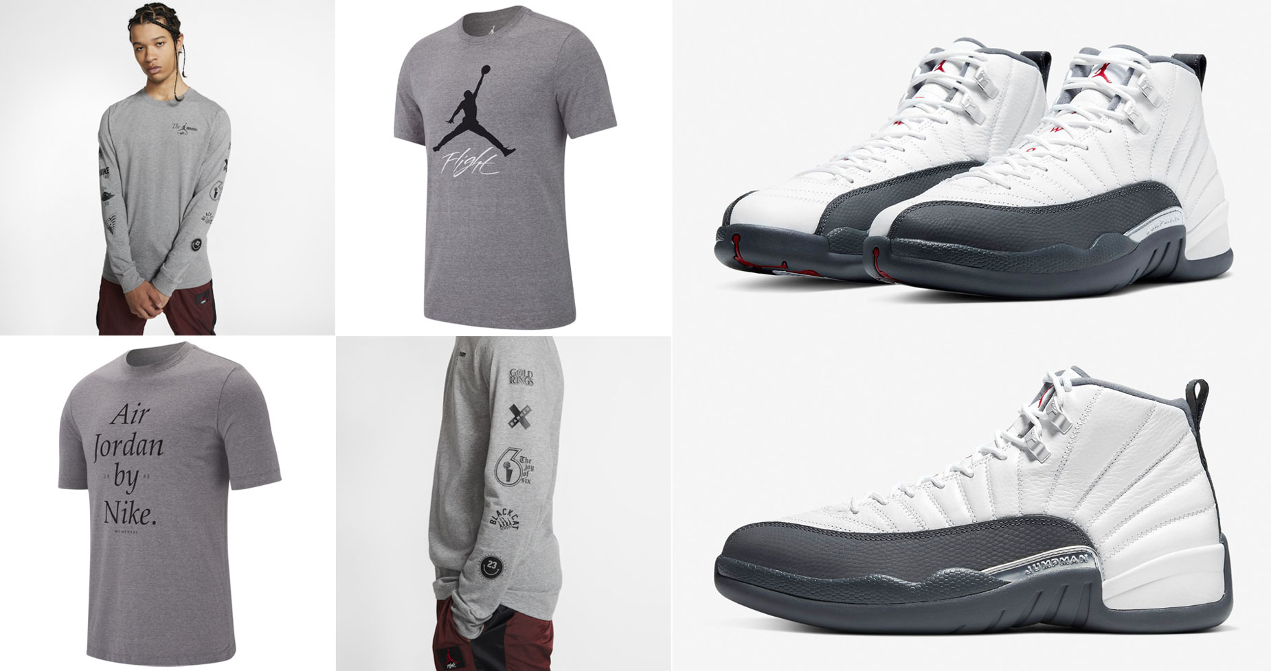 air-jordan-12-white-dark-grey-shirts