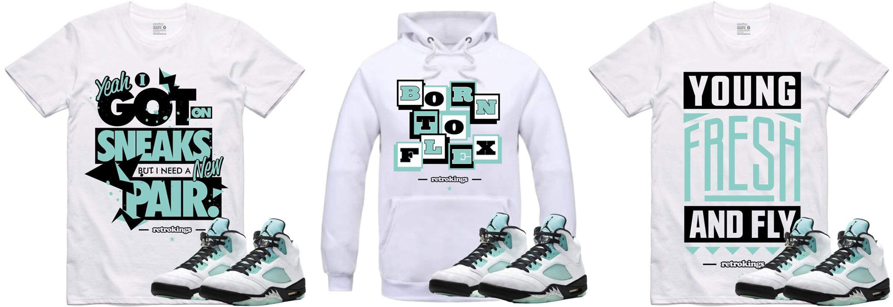 cyber-monday-air-jordan-5-island-green-sneaker-tees-hoodies